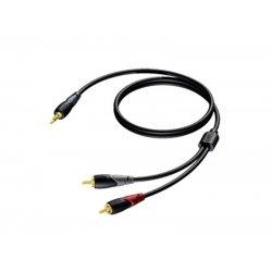 ProCab CLA711/3 - Jack 3.5 - 2x RCA - 3m