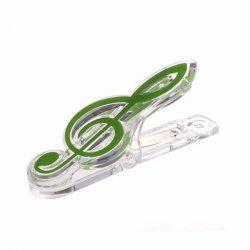 Klip na noty Pecka - houslový klíč zelený