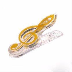 Klip na noty Pecka - houslový klíč žlutý