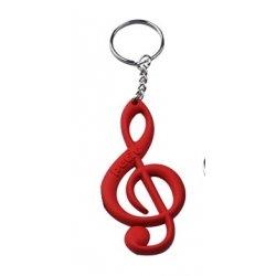 Přívěsek na klíče houslový klíč RD
