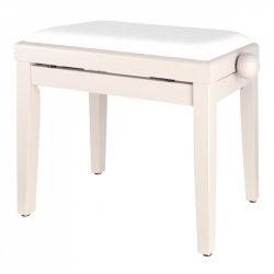 Proline klavírní stolička bílá matná